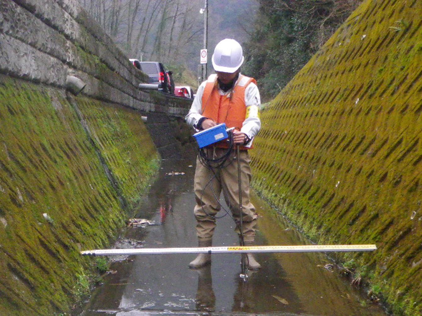 River flow rate survey