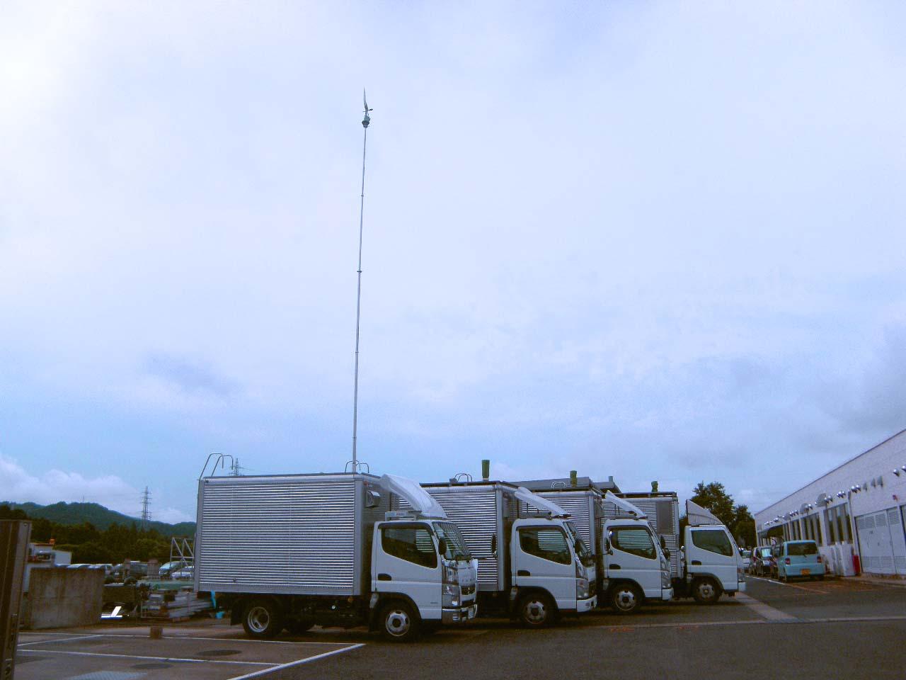 移動測定車による大気質測定