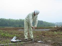 採土器による採取